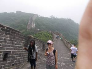 Me on the great wall with Lina